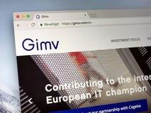 Page d'accueil de gimv COM - Gimv Photo libre de droits