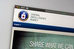 Page d'accueil de site Web de CIA Fermez-vous du logo de CIA images libres de droits