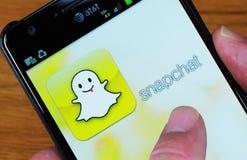 Page d'accueil de Snapchat Photographie stock