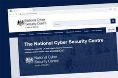 Page d'accueil nationale de site Web de centre de sécurité de Cyber photos stock