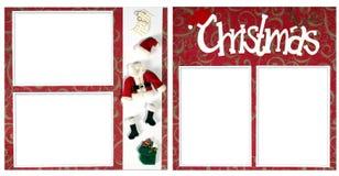 Page d'album à Digitals de Noël Images stock