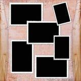 Page d'album de cru Photo stock