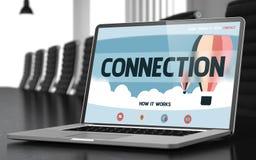 Page d'atterrissage d'ordinateur portable avec le concept de connexion 3d Photos stock