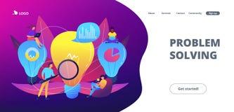 Page d'atterrissage de concept de solution d'affaires illustration stock