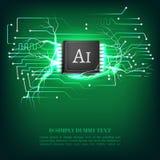 Page d'atterrissage de l'intelligence artificielle AI Calibre de site Web pour le concept de étude profond illustration libre de droits