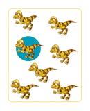 Page d'exercice de dinosaure de bande dessinée Photographie stock