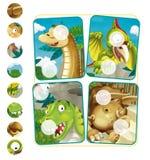 Page d'exercice de dinosaure de bande dessinée Image stock