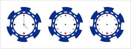 Page d'horloge de puce de tisonnier illustration libre de droits
