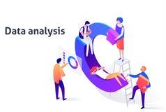 Page d'illustration de technologie d'analyse de poussée d'affaires illustration libre de droits