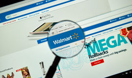 Page d'Internet de Walmart Photos libres de droits