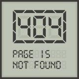 Page dans le message d'erreur numérique non trouvé Photographie stock