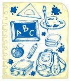 Page de bloc-notes avec les retraits 1 d'école Photographie stock