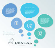 Page de brochure de dentiste sur des ampoules d'un fond de blanc Photographie stock libre de droits