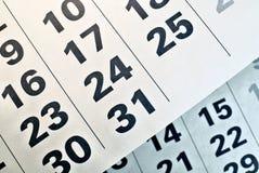 Page de calendrier avec la date de Noël Photo stock