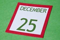 Page de calendrier de Noël Photographie stock libre de droits