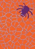 Page de coloration avec l'araignée et Web en waterdrops ou gouttes de pluie Photographie stock