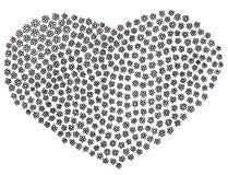 Page de coloration avec le coeur floral de griffonnage illustration libre de droits