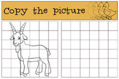 Page de coloration Colorez-moi : chèvre Petite chèvre mignonne de bébé illustration stock