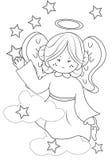 Page de coloration d'ange illustration stock