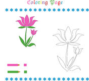 Page de coloration de fleur Photos libres de droits