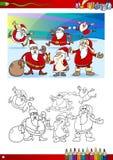Page de coloration de Noël Photo libre de droits