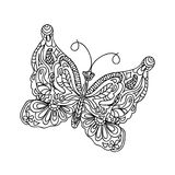 Page de coloration de papillon Image stock