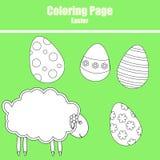 Page de coloration Pâques illustration stock