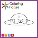 Page de coloration pour des enfants, couleur les parties de l'objet selon des nombres, couleur par des nombres photographie stock