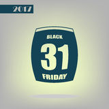 Page de date civile de vente de Black Friday Photo libre de droits