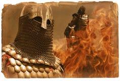 Page de l'histoire de l'Europe médiévale Image stock