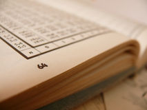 Page de livre Photographie stock libre de droits