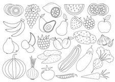 Livre De Coloriage Fruits Et Legumes Pomme Illustration De