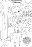 Page de livre de coloriage de mode Photos stock