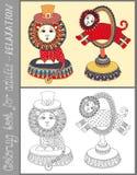 Page de livre de coloriage pour des adultes avec peu commun Images libres de droits