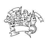 Page de livre de coloriage pour l'adulte et les enfants Photo stock