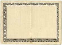 Page de livre de cru avec une illustration Photographie stock