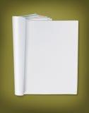Page de magazine blanc image stock