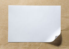 Page de papier blanche photos stock
