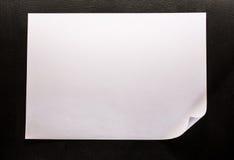 Page de papier blanche images stock