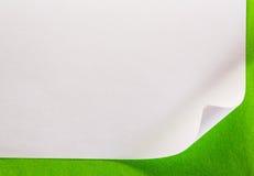 Page de papier blanche image stock