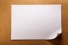 Page de papier blanche photos libres de droits