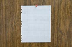 Page de papier blanche sur la notification Images libres de droits