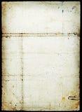 Page de papier souillée par grunge Photographie stock libre de droits