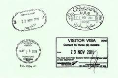 Page de passeport photos libres de droits