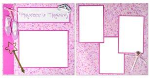 Page de princesse In Training Digital Scrapbook Photos libres de droits