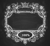 Page Decoration chalkboard Royalty Free Stock Photo