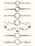 Page Decoration. Exquisite Ornamental and Page Decoration Designs elements Royalty Free Stock Photo