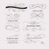 Page decoration. Floral design elements vintage dividers in black color. Page decoration. Vector illustration. Isolated on white background. Can use for Royalty Free Stock Images