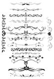 Page decoration rules icons set Royalty Free Stock Images