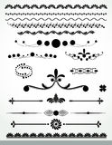 Page decorations, Black and WhiteCollection Royalty Free Stock Photo